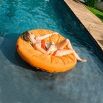 Sunsoft Inflatable Fabric Covered Pool Lounger NT1463