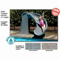 Cyclone Pool Slide Right Curve 4 feet Gray Granite NE7404