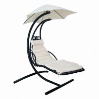 Hanging Lounge with Shade Canopy in Canvas Beige NU3215