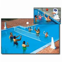 Pool Jam In-Ground Water Volleyball & Basketball Game Combo NT200