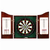 Solid Wood Dart Cabinet Set - Cherry Finish NG1041CH