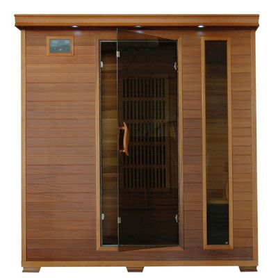 Cedar Klondike 4 Person FAR Infrared Sauna with Carbon Heaters SA1318