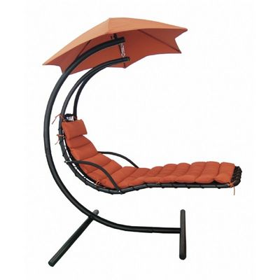 Hanging Lounge with Shade Canopy in Terra Cotta NU3220