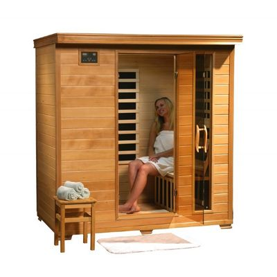 Hemlock Monticello 4 Person FAR Infrared Sauna with Carbon Heaters SA2418