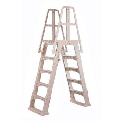 Premium A-Frame Above Ground Pool Ladder Taupe NE120T