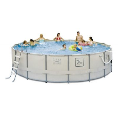 Proseries above ground pool package 18 ft round 52 inch for Deep above ground pools