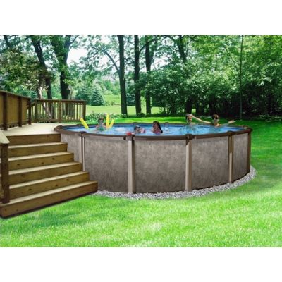 Riviera 18 39 round 54 deep above ground swimming pool Above ground pool installation ideas