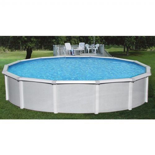 "15' Round 52"" Samoan Steel Pool With 8"" Toprail NB1641"