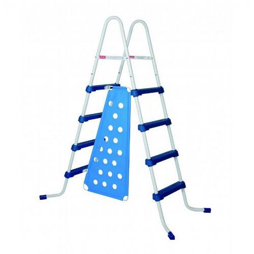 a frame ladder with barrier 52 inch blue steps ne1215 cozydays