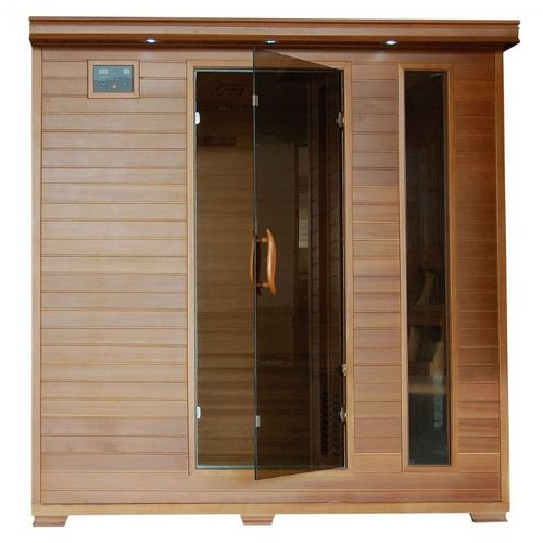 Cedar Great Bear 6 Person FAR Infrared Sauna with Carbon Heaters SA1323