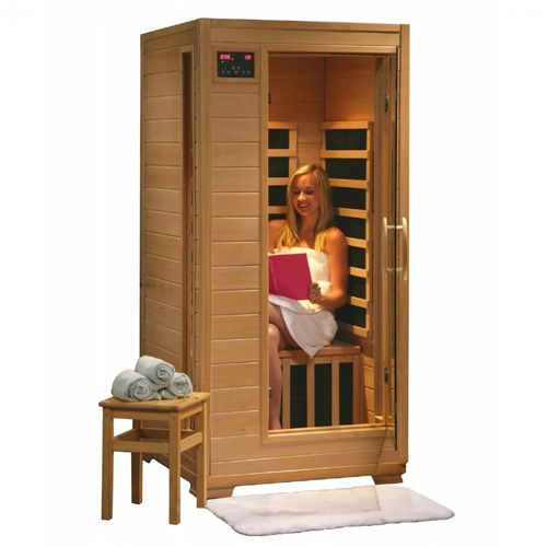 Hemlock Buena Vista 1 Person FAR Infrared Sauna with Carbon Heaters SA2402