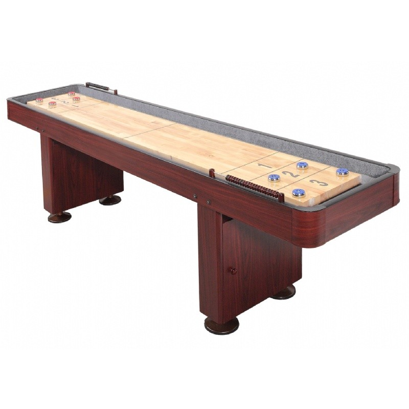 carmelli 12 foot deluxe shuffleboard table dark cherry