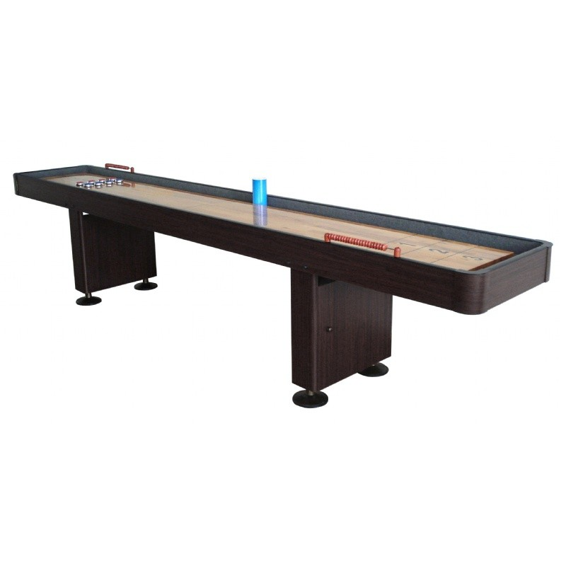 Carmelli 12 Foot Deluxe Shuffleboard Table - Walnut