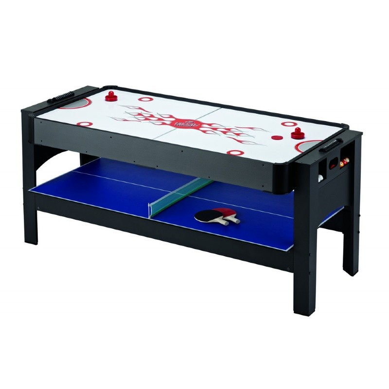 Carmelli 6 Foot 3-in-1 Flip Game Table Air Hockey, Table Tennis, Billiards