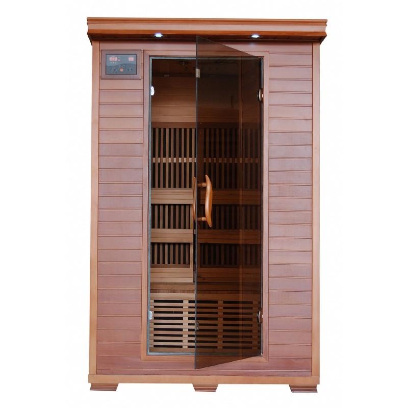 cedar yukon 2 person far infrared sauna with carbon heaters. Black Bedroom Furniture Sets. Home Design Ideas