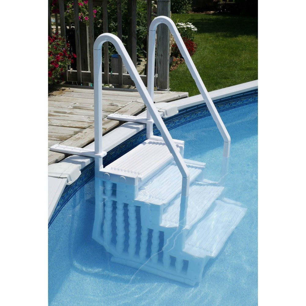 Easy pool step for above ground pools - Above ground pool steps ...