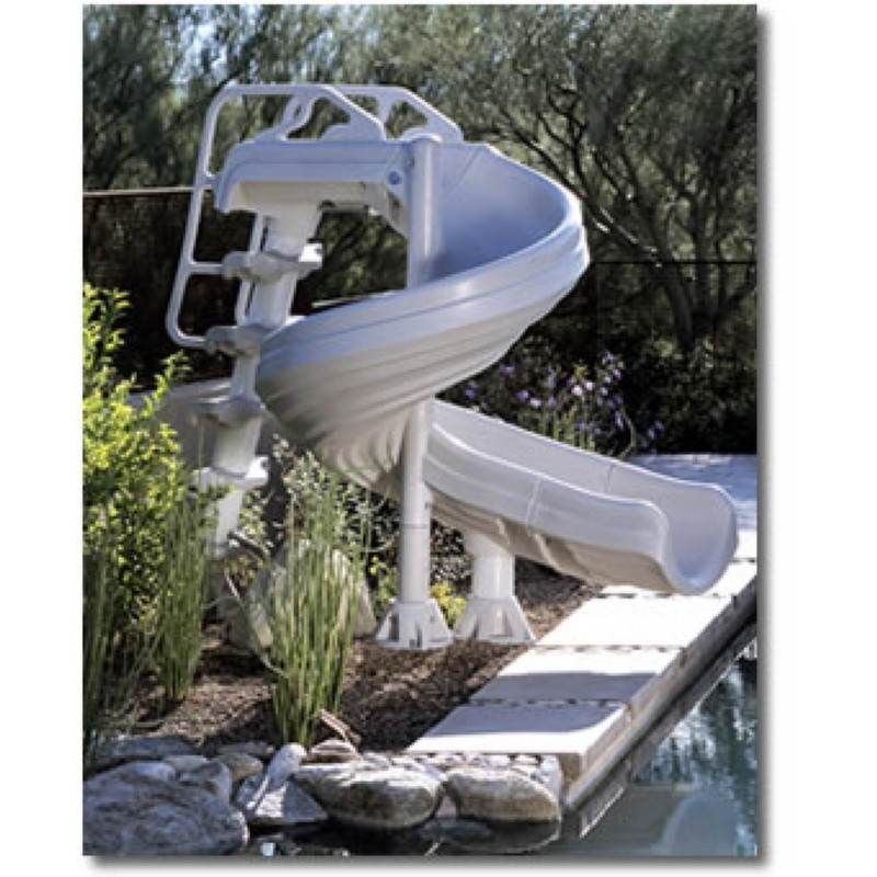 Party Water Floats for 6 People: G-Force Spiral Pool Slide 360 Curve 6 Feet