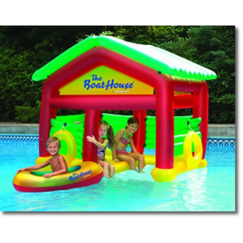 Oasis Island Inflatable: Inflatable Floating Boathouse