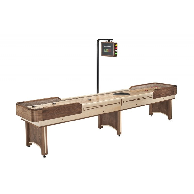 Rec Room Games: Napa Deluxe 12 Feet Shuffleboard with Overhead Electronic Scoring
