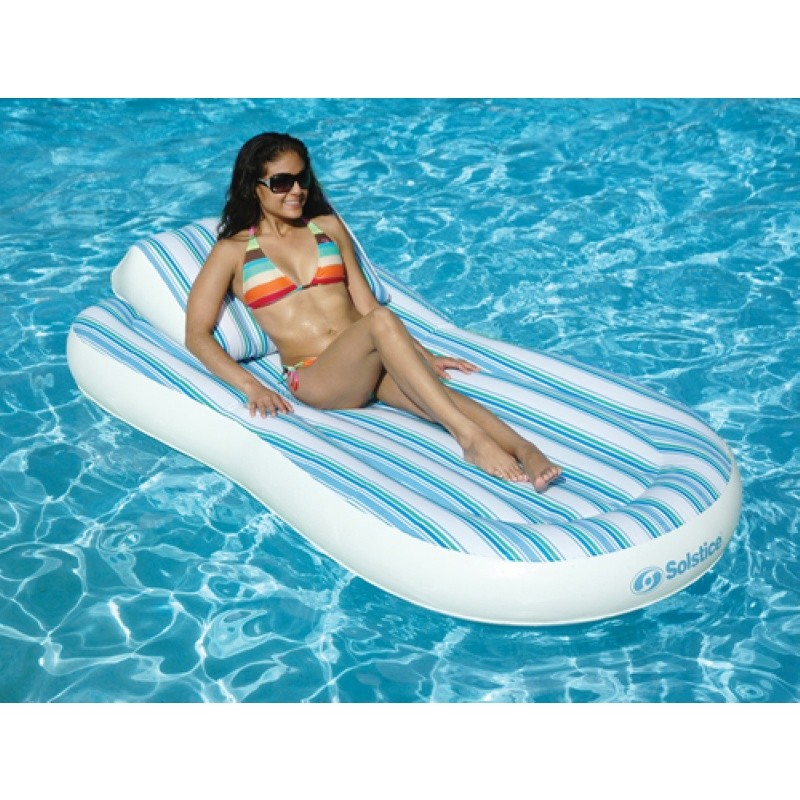 Oasis Island Inflatable: Inflatable Pool Float Matress with Pillow