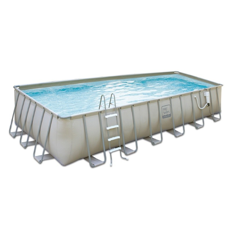 Proseries above ground pool package 12x24 ft rectangle 52 for Square above ground pool