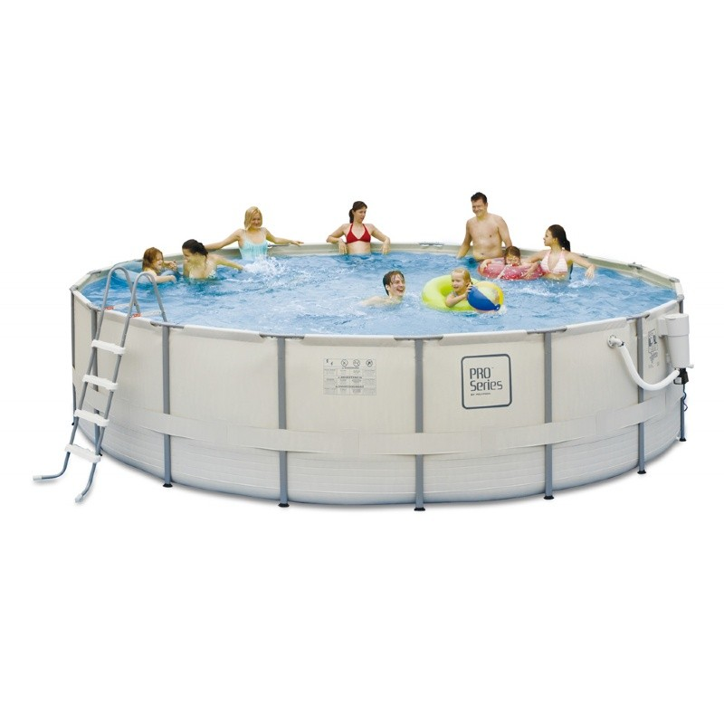 Proseries above ground pool package 24 ft round 52 inch for Deep above ground pools