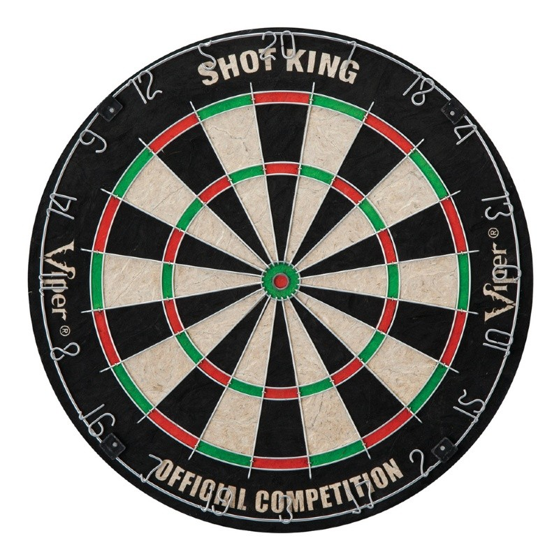 Shot King Sisal Dartboard with Darts