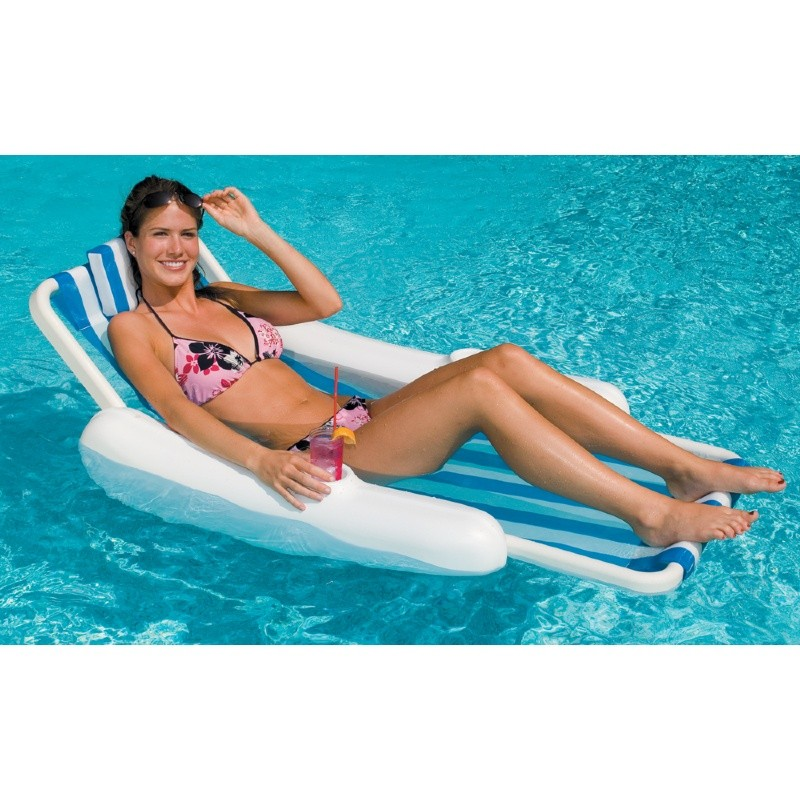 Aqua Leisure Recliner Fabric Comfort Lounge Floating Pool Chair: Sunchaser Sling Pool Lounge