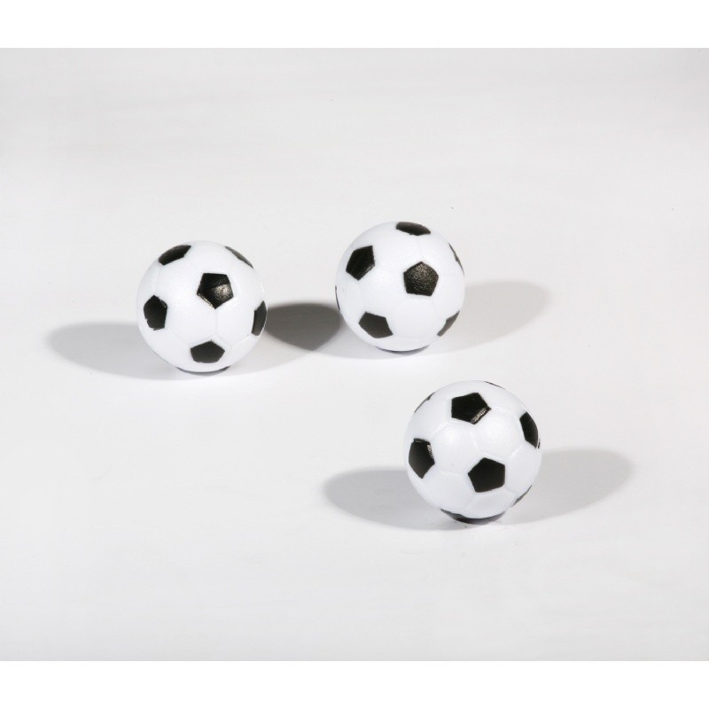 Three-Pack Black and White Foosballs