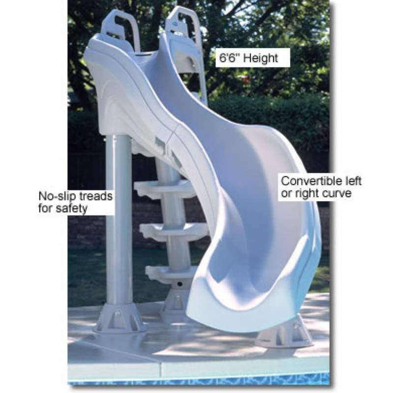 Pool Slides, Water Slides: X-Stream Pool Slide Double Curve 6.5 Feet