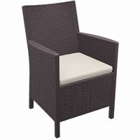 California Wickerlook Resin Patio Chair Brown ISP806