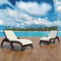 Outdoor cushions for wickerlook furniture