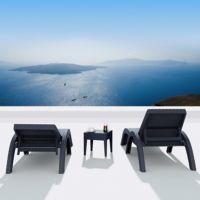 Fiji Wickerlook Resin Outdoor Chaise Lounge Set 3 Piece Brown ISP860-S3