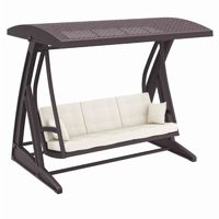 Hawaii Wickerlook Patio Swing with Sunbrella Cushions Brown ISP862