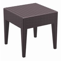 Miami Wickerlook Resin Patio Side Table Brown 18 inch. ISP858