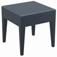 Miami Wickerlook Resin Patio Side Table Dark Gray 18 inch. ISP858
