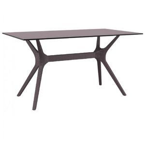 Ibiza Rectangle Outdoor Dining Table 55 inch Brown ISP864
