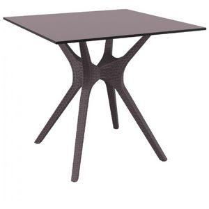 Ibiza Square Outdoor Dining Table 31 inch Brown ISP863