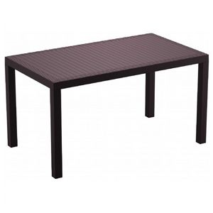 Orlando Wickerlook Resin Rectangle Patio Dining Table Brown 55 inch. ISP878
