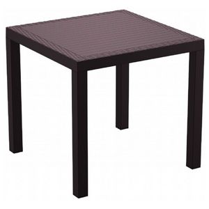 Orlando Wickerlook Resin Square Patio Dining Table Brown 31 inch. ISP875