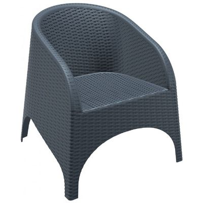 Aruba Wickerlook Resin Patio Chair Dark Gray ISP804-DG