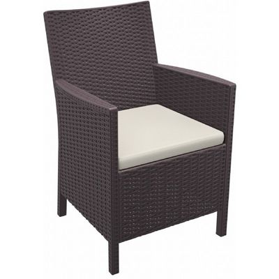 California Wickerlook Resin Patio Chair Brown ISP806-BR