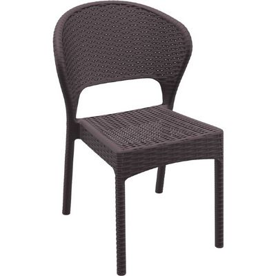 Daytona Wickerlook Resin Patio Dining Chair Brown ISP818