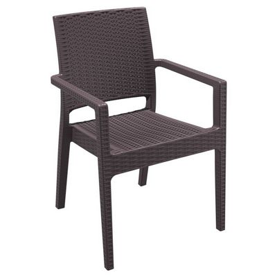 Ibiza Wickerlook Resin Patio Armchair Brown ISP810-BR