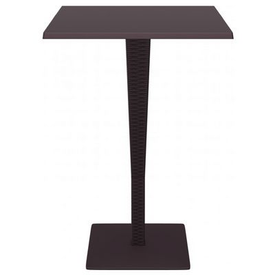 Riva Wickerlook Resin Square Bar Table Brown 28 inch. ISP888