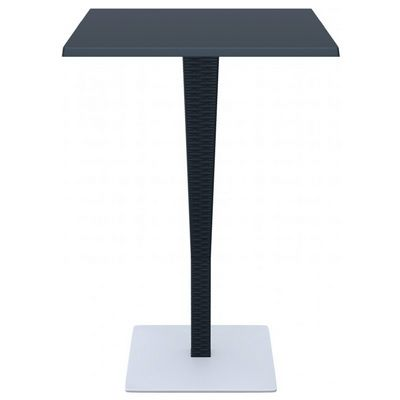 Riva Wickerlook Resin Square Bar Table Dark Gray 28 inch. ISP888-DG