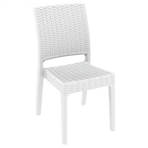 Florida Wickerlook Resin Patio Dining Chair White Isp816 Wh