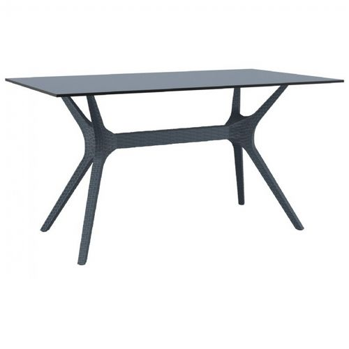 Ibiza Rectangle Outdoor Dining Table 55 inch Dark Gray ISP864-DG