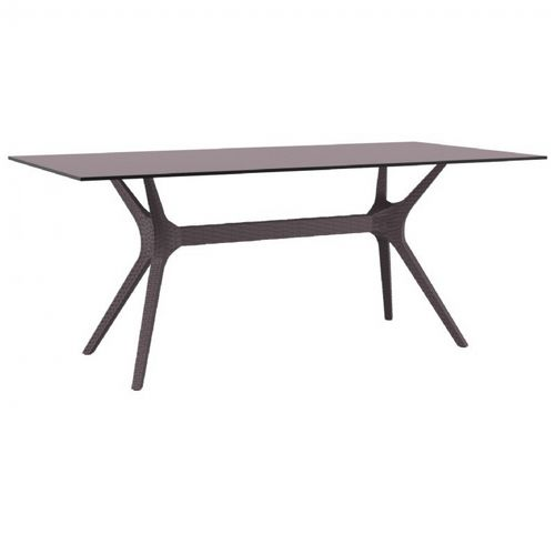 Ibiza Rectangle Outdoor Dining Table 71 inch Brown ISP865-BR