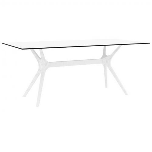 Ibiza Rectangle Outdoor Dining Table 71 inch White ISP865-WH